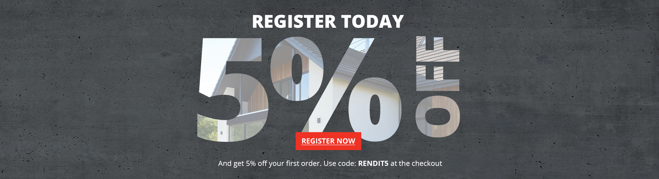 New Rendit Customer Registerations receive 5% OFF First Order