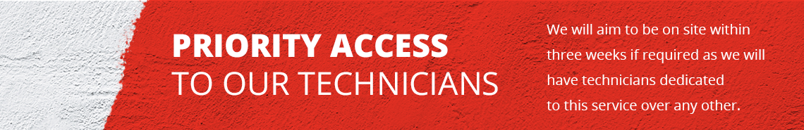 Priority access to our technicians