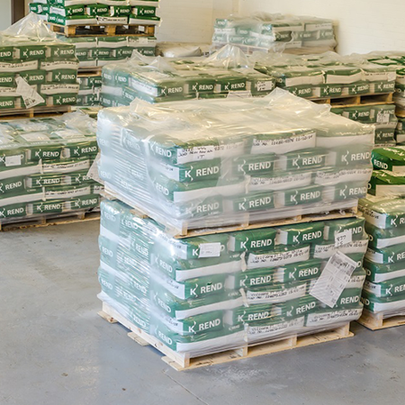Image of a palettes of K Rend products