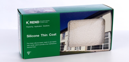 Image of a green box with the K Rend branding advertising the K Rend Primer TC 15kg.