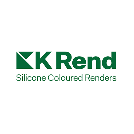 Image of the K Rend logo with 'Silicone Coloured Renders' placed underneath.