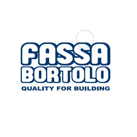 The Fassa Bortolo logo with 'quality for building' placed underneath.