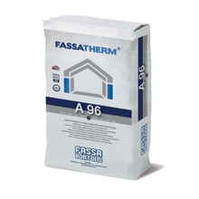 The Fassa A96 Base Coat is a cement-based adhesive, used to bond and skim -coat polystyrene panels.